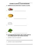 Avancemos 1b: Unit 4, Lesson 2 Study Guide