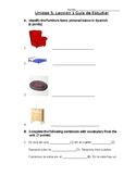 Avancemos 1b: Unit 5, Lesson 1 Study Guide