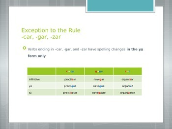 Avancemos 2.1.2 Regular Preterite -ar Verbs
