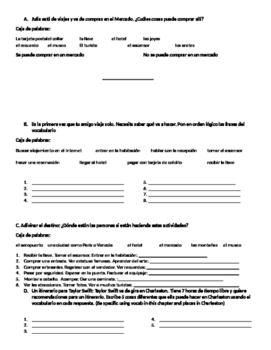 Avancemos 2 1.2 Vocab Receptive/Initial Activities