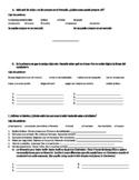 Spanish 2- Avancemos 1.2 Vocab Receptive/Initial Activities
