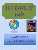 Avancemos 2, Unit 1 Lesson Plans
