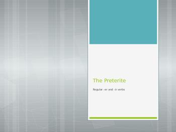Avancemos 2.2.1 Preterite of -er and -ir verbs