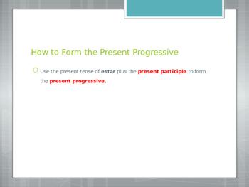 Avancemos 2.2.2 Present Progressive