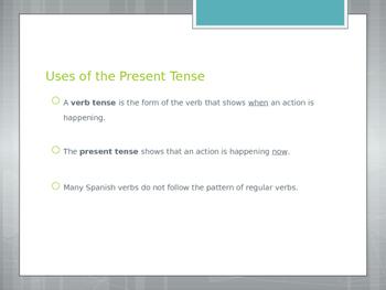 Avancemos 2.3.1 Present Tense of Irregular yo Verbs