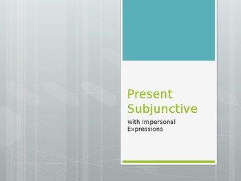 Avancemos 2.7.1 Subjunctive with Impersonal Expressions