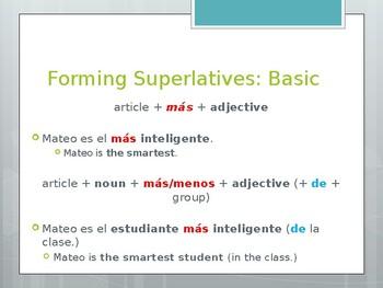 Avancemos 2.7.2 Superlatives