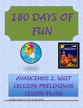 Avancemos 2, Unit Leccion Preliminar Lesson Plans
