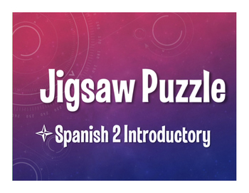 Avancemos 2 Lección Preliminar Jigsaw Puzzle