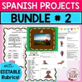Spanish 2 PROJECTS BUNDLE | Spanish 2 Review | Back to School