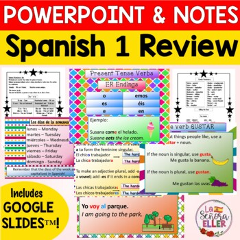 Avancemos 2 Preliminary Lesson PowerPoint & Notes