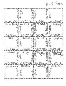 Avancemos 2 Semester 1 Review Jigsaw Puzzle