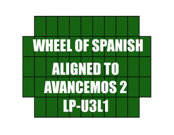 Avancemos 2 Semester 1 Review Wheel of Spanish