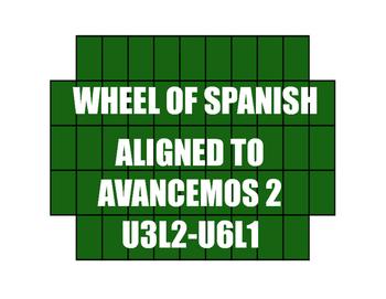 Avancemos 2 Semester 2 Review Wheel of Spanish