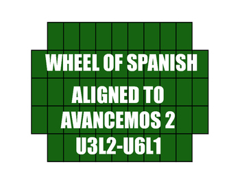 Avancemos 2 Semester 2 Review Wheel of Spanish
