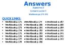 Avancemos 2 - Unidad 4 Lección 2 Workbook Answers PPT w Audio