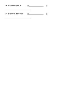 Avancemos 2 U1L1 Vocabulary Fix the Errors & Translate