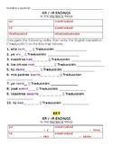 Avancemos 2 U2L1 -ER -IR Preterite Verb Drill