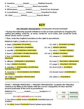 Avancemos 2 U2L2 Present Progressive Practice Present Participle