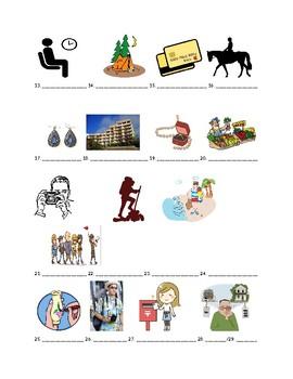 Avancemos 2 Chapter 1 Vocabulary 2 Identification Practice/Quiz