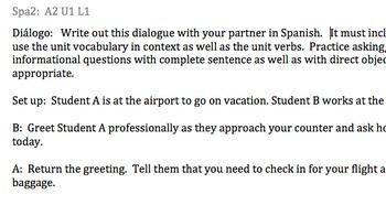 Avancemos 2:  Unidad 1, Lección 1:  Guided Dialogue