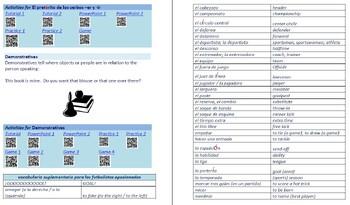 Avancemos 2  Unidad 2 Lección 1 Lessons/Notes/Study Guides