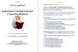 Avancemos 2 Unidad 2 Lección 2 Teaching Material