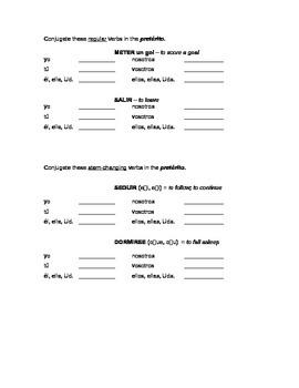 Avancemos 2 - Unidad 2 Leccion 1 - Preterit and Preterit stem-changing verbs