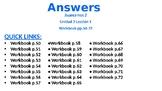Avancemos 2 - Unidad 2 Lección 1 Workbook Answers PPT w Audio