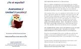 Avancemos 2 Unidad 3 Lección 2 Lessons/Notes/Study Guides