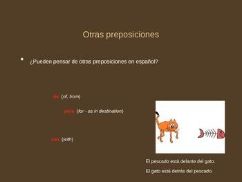 Avancemos 2 - Unidad 3 Leccion 1 - Prepositions Power Point