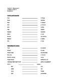 Avancemos 2 - Unidad 3, Lección 1 Vocabulary