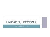 Avancemos 2: Unidad 3, Lección 2 PowerPoint