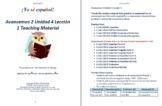 Avancemos 2 Unidad 4 Lección 1 Teaching Material