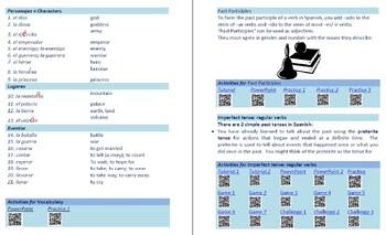 Avancemos 2  Unidad 4 Lección 2 Lessons/Notes/Study Guides