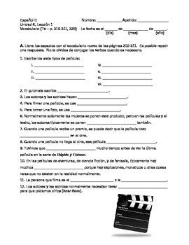 Avancemos 2 Unidad 3 Worksheets Teaching Resources Tpt