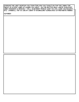 Avancemos 2 Unit 1 Lesson 2 Comic Strip