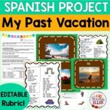 Spanish My Past Vacation Project   Spanish Vacaciones Preterite Tense Project