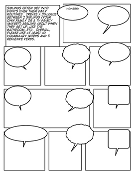 Avancemos 2 Unit 2 Lesson 2 Comic Strip