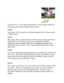 Avancemos 2 Unit 2 Lesson 1  Soccer Practice Text Message Reading Comprehension