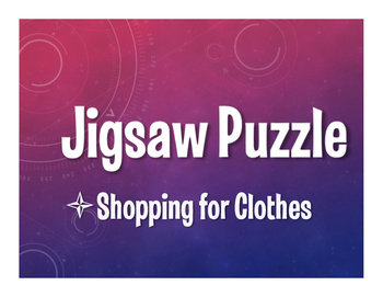 Avancemos 2 Unit 3 Lesson 1 Jigsaw Puzzle
