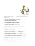 Avancemos 2 Unit 3 Lesson 1 Preguntas para Compañeros & Fill-in Phrases w/ vocab