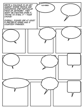 Avancemos 2 Unit 3 Lesson 2 Comic Strip