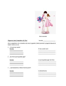 Avancemos 2 Unit 4 Lesson 1 Survey and Speaking Activity
