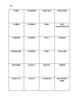 "Avancemos 2 Unit 4 Lesson 1 Vocabulary Old Maid ""La Solterona"""