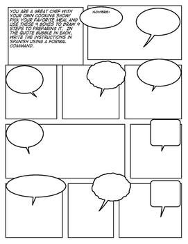 Avancemos 2 Unit 5 Lesson 1 Comic Strip