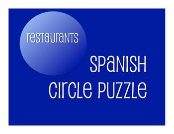 Avancemos 2 Unit 5 Lesson 2 Circle Puzzle