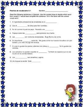 Avancemos 2 Unit 5 Vocabulary Activity