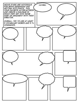Avancemos 2 Unit 6 Lesson 1 Comic Strip