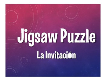 Avancemos 2 Unit 6 Lesson 2 Jigsaw Puzzle